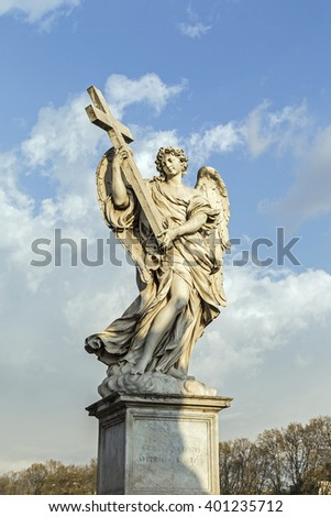 Statue in Ponte Sant'Angelo in Rome, Italy