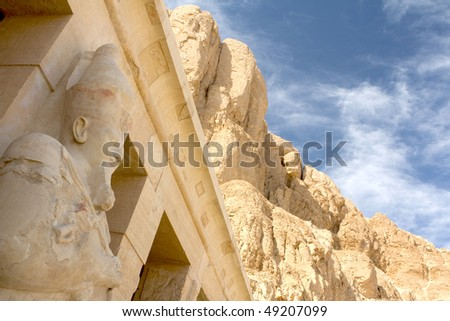 Statue in Temple of Hatschepsut - stock photo