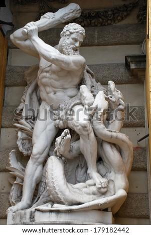 Statue in the center of Vienna, Austria/Statue/Statue in the center of Vienna, Austria - stock photo