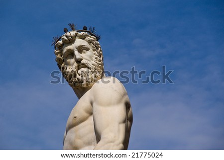 Statue located in the open air gallery in Florence, Italy. - stock photo
