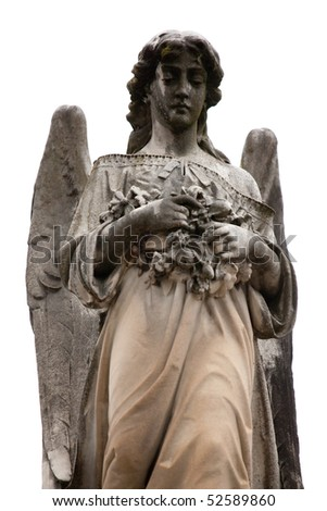 Statue of an angel at a Melbourne Cemetery - stock photo