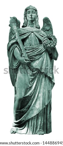 Statue of an angel isolated on white