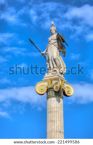 Statue of Athena,Academy of Athens,Greece  - stock photo