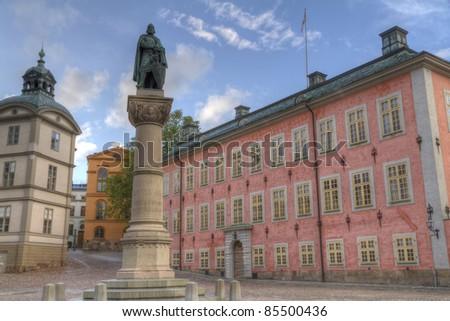statue of Birger Jarl,or Birger Magnusson,stockholm,sweden - stock photo