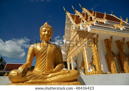 Statue of Buddha on Koh Samui, Thailand - stock photo