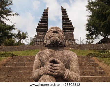 Statue of Candi Ceto, Hindu temple - Central Java, Indonesia