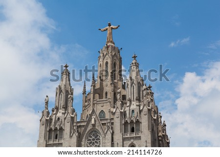Statue of Christ on Mount Tibidabo, Barcelona