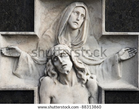 statue of christ with madonna (compassion)