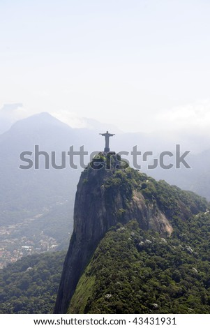 Statue of corcovado cristo redentor in Rio de Janeiro Brazil, city of Olympic games of 2016