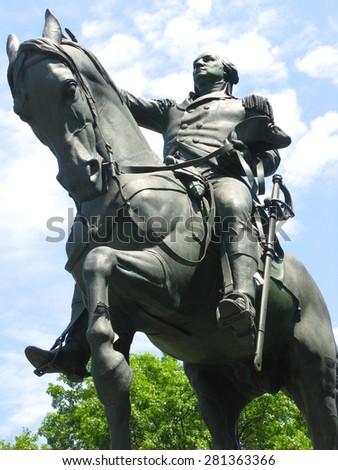 Statue of George Washington in Union Square, New York City - stock photo