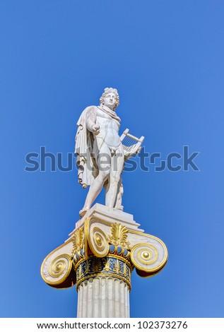 Statue of god Apollo, Athens, Greece - stock photo