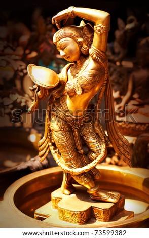 Statue of indian hindu god Shiva Nataraja - Lord of Dance - stock photo