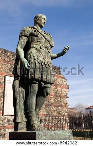 Statue of Julius Caesar in Turin (Italy) - stock photo