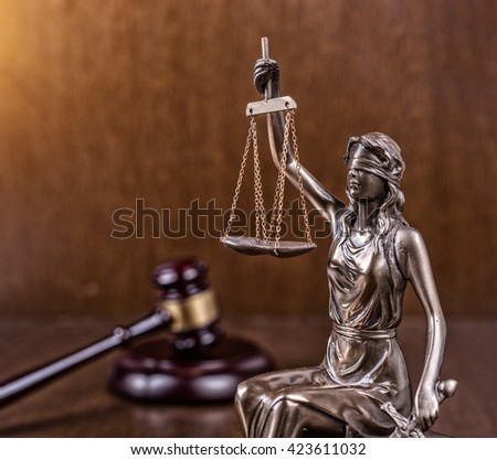 Statue of justice,law concept - stock photo