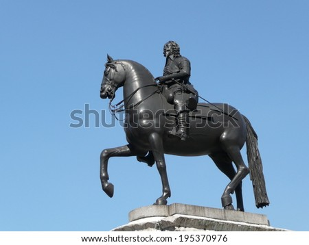 Statue of King Charles I in London in UK
