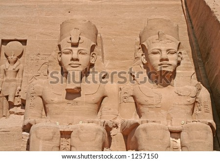 Statue of King Ramses II at the Temple of Abu Simbel, Egypt