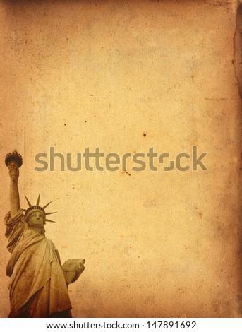 Statue of Liberty grunge - stock photo
