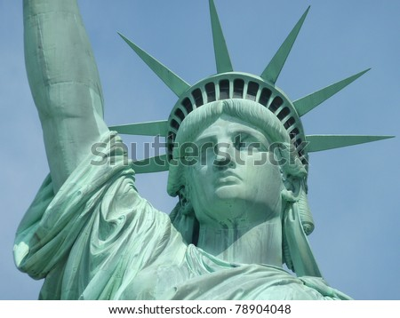 Statue of Liberty, head detail