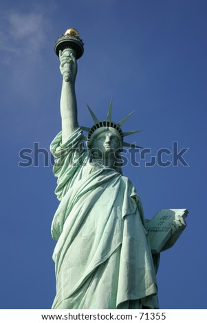Statue of Liberty in New York City -2 - stock photo