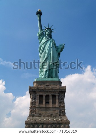Statue of Liberty in New York City, USA - stock photo