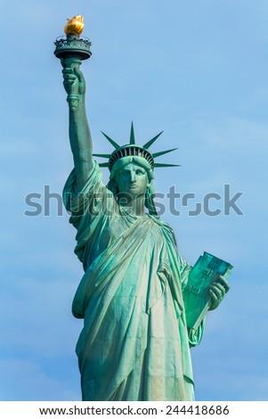 Statue of Liberty New York American Symbol USA US - stock photo