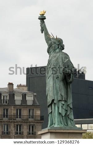 Statue of Liberty, Paris, France - stock photo