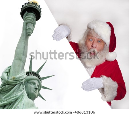 Statue of Liberty - Santa Claus with the Statue of Liberty