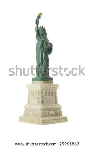 Statue of Liberty Souvenir on White Background - stock photo