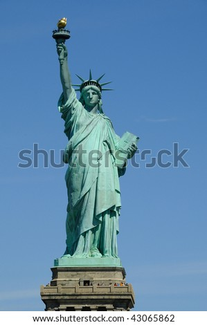 Statue of Liberty Symbol of Freedom - stock photo