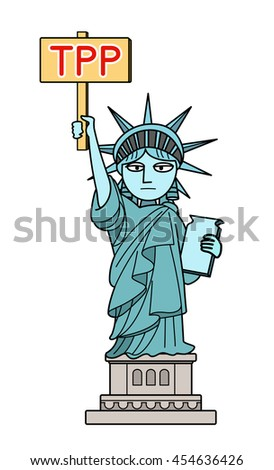Statue of Liberty - TPP - stock photo