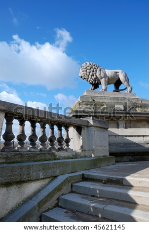statue of lion - stock photo
