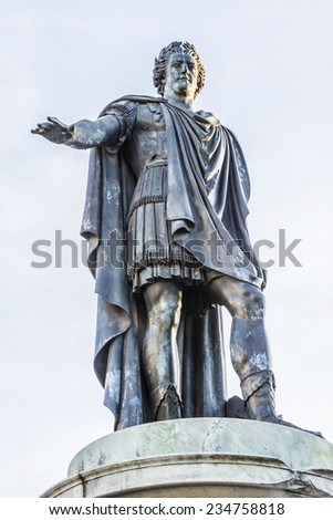 Statue Louis XV Place Royale Reims Stock Photo (Royalty Free ...
