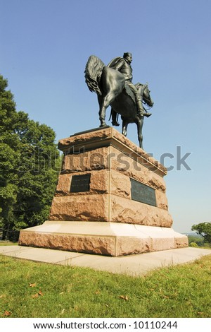 statue of mad Anthony Wayne at Valley Forge