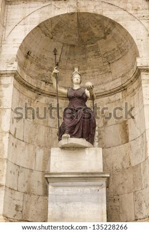 statue of Minerva, Piazza del Campidoglio, Rome, Italy, Europe - stock photo