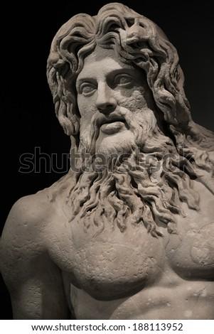 Statue of Neptune at Campidoglio, Rome, Italy, 2014 - stock photo