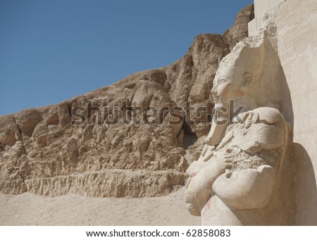 Statue of Queen Hatshepsut in Luxor, Egypt - stock photo