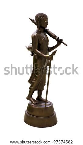 Statue of Sivali Thera, one of arhat and disciple of Gautama Buddha. - stock photo
