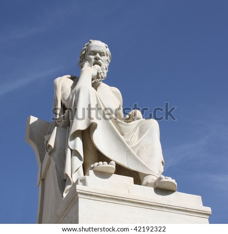 Statue of Socrates in Athens, Greece - stock photo