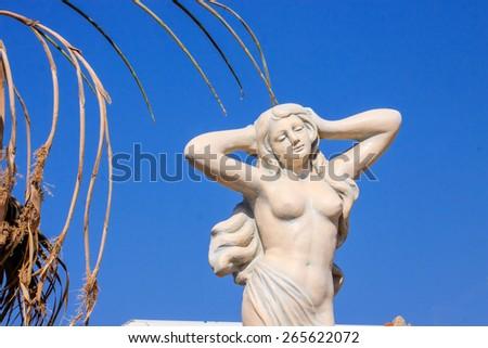 statue of the goddess Aphrodite, Cyprus symbol - stock photo