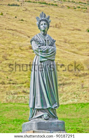 Statue of Virgin Mother in La Salette France - stock photo