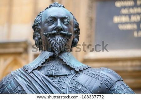 Statue of William Herbert, 3rd Earl of Pembroke. Oxford, England - stock photo