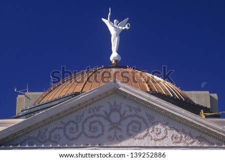 Statue on top of the State Capitol of Arizona in Phoenix, Arizona - stock photo