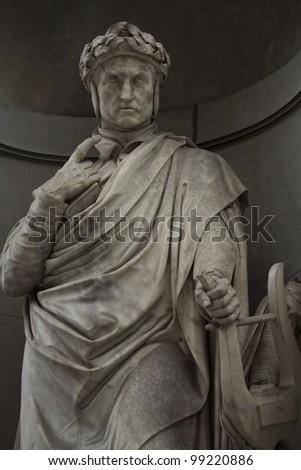 Statue outside the Uffizi, Florence. Italy - stock photo
