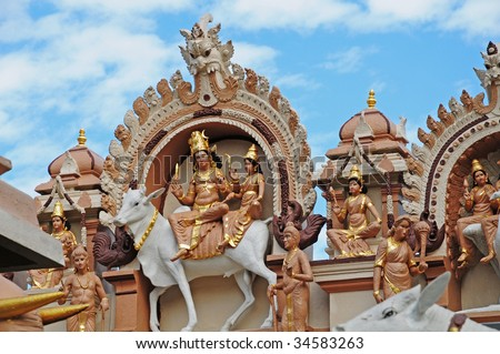 Statues And Cravings Of A Hindu Temple