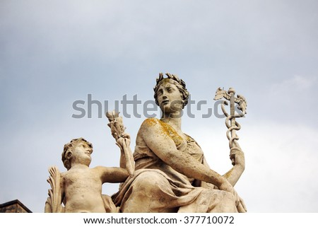 statues at  the park of palace of versailles