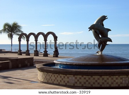 Statues in Puerto Vallarta, Mexico - stock photo