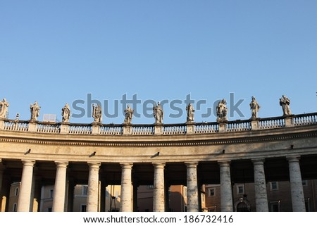 Statues in Saint Peter Basilica, Italy - stock photo