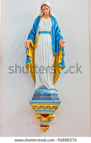 Statues of Holy Women in Roman - stock photo