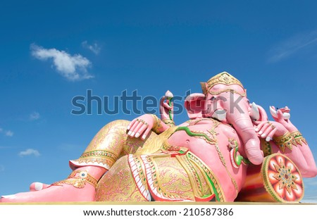 Statues of Lord Ganesh, the deity of the pink.
