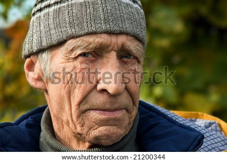 Steadfast serious sight elderly men